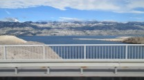 Crossing the Bridge from Pag Island to the Mainland