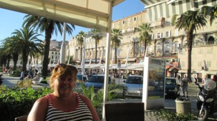 Having a beer in Split