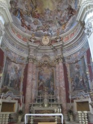 Inside the Chuch of St Ignatius