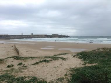 Tarifa Beach in the town