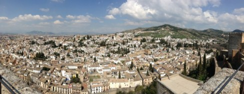 Views of Granada from Torre de la Vela