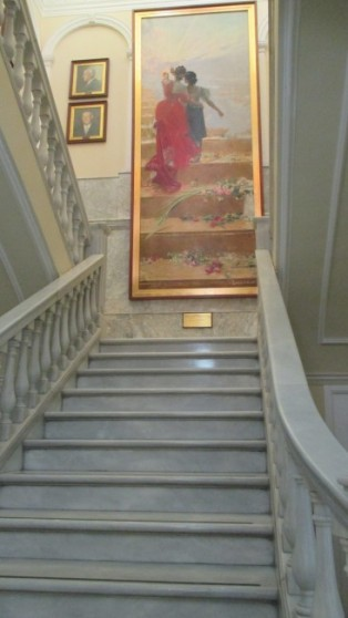 Marbled staircase in the Ayuntamiento