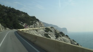 Coast road to Sitges