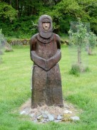 St Kessog sculpture at The Glebe, Luss