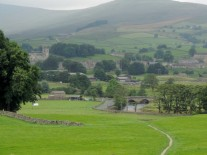 On the way up looking back towards Hawes