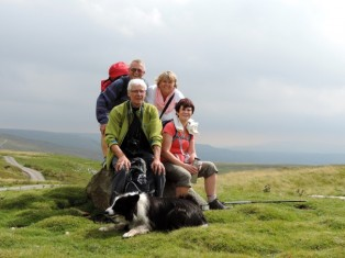 On the top of Stags Fell