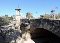 Bridge over the old riverbed, Valencia