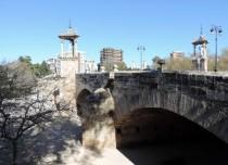 Bridge over the old riverbed, Valencia