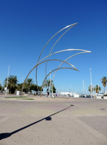 Sculpture at Gandia Marina