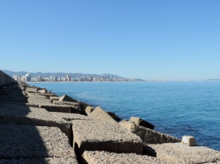Looking back to Gandia Beach