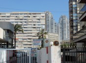 High rise behing Levante Beach