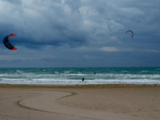 The local beach perfect for kite surfing