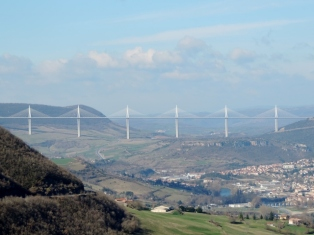 Millau Viaduct & the town of Millau