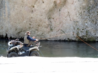 Quad fishing in Sainte Enimie, Gorges du Tarn, France