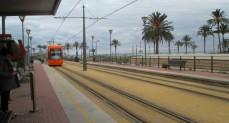 Tram into Alicante