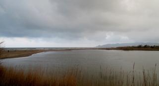 The river meets the beach at L'Estartit