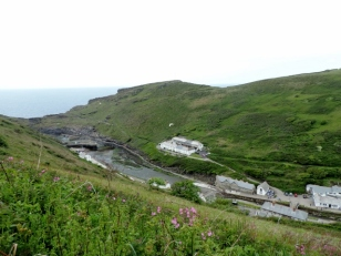 Boscastle Harbour from Above