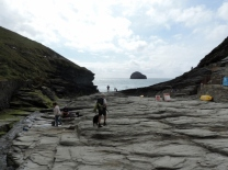 Leading to the Beach at Trebarwith Strand
