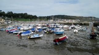 Lyme Regis Harbour - low tide!