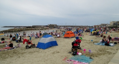 Sandy Beach at Lyme Regis