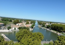View from the Constance Tower with the Canal du Rhone in the background
