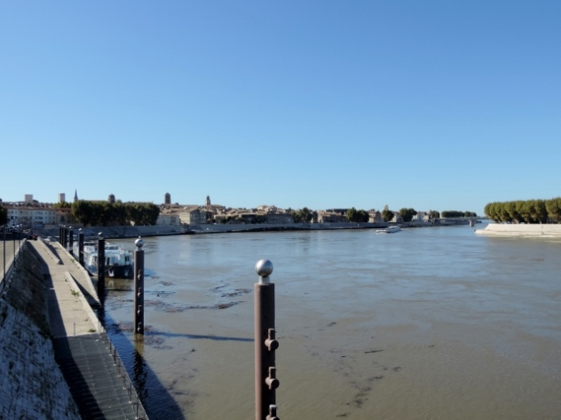 View of Arles from the Grand Rhone