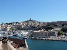 Vieux Port, Marseilles with Basilique Notre Dame de la Garde in the background