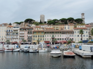 Looking towards the old town, Cannes