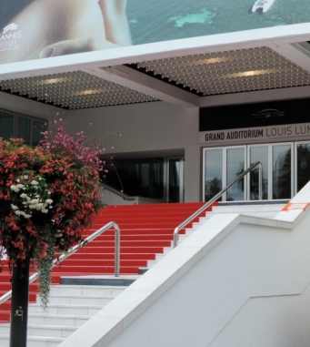 Red Carpet entrance to Palais des Festivals