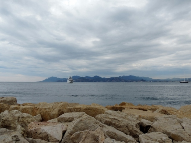View to the Esterel Mountains from the Port