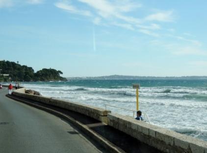 Coastal Road 'Bord de la Mer' from Cannes to Juan Le Pins