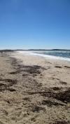 The beach on the western side of Presqu'ile de Giens