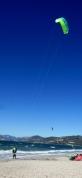 Kite surfing on the western side of Presqu'ile de Giens