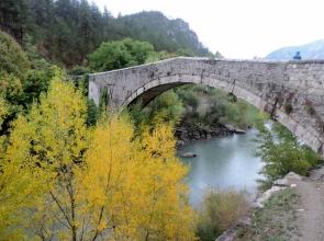 Old Bridge at Castellane over Verdon River