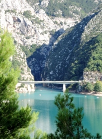 The mouth of the Gorges du Verdon