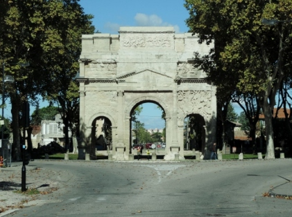 Ancient Archway in Orange