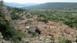 Looking down to Moustiers Ste-Marie