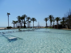 One of the many fountains in Salou