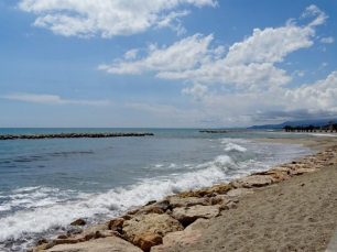 The beach from Cambrils to Camping Joan