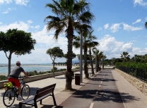 Cycle path from Cambrils to Camping Joan