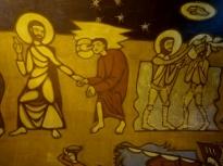Murals inside Chapel of Notre-Dame-de-la-Salette