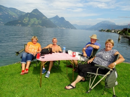 Rosie, Tony, John & Diane at Lake Lucerne
