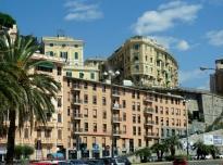 Driving through Genoa