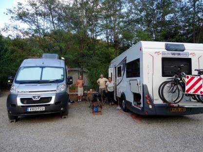 The car park, Camping La Sfinge