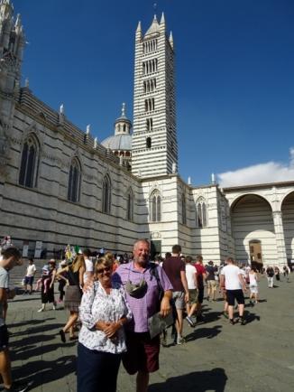 John & Diane at Duomo, Siena