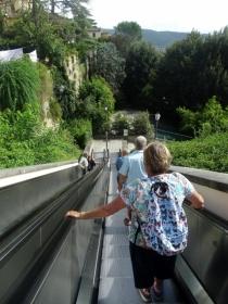 Escalators in Cortona
