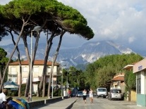 The Apuane Alps behind Paraccia
