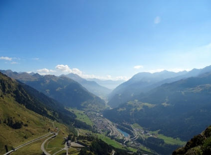 Gottard Pass looking towards Italy