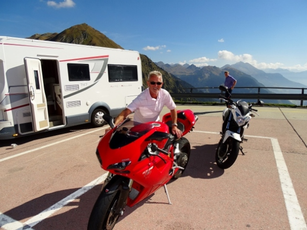 Tony with the Ducatti