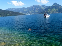 Tony swimming Lake Lucerne